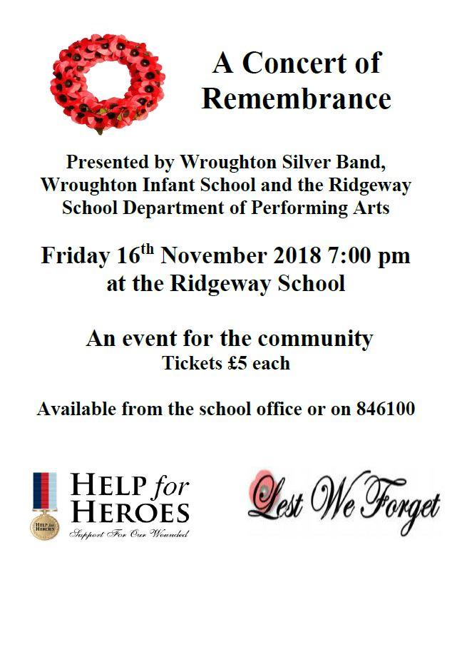 Ridgeway remembrance poster 2018